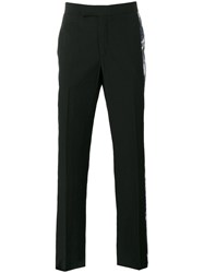 Yang Li Printed Sides Tailored Trousers Black