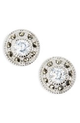 Judith Jack Pave Stud Earrings Marcasite