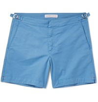 Orlebar Brown Bulldog Stretch Cotton Twill Shorts Blue