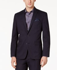 Bar Iii Men's Slim Fit Navy Stretch Jacket Only At Macy's