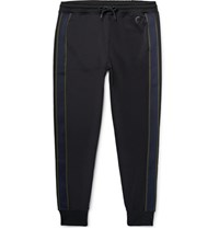 Paul Smith Ps By Slim Fit Tapered Striped Tech Jersey Sweatpants Black