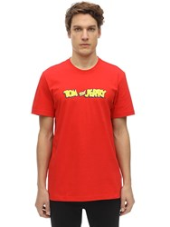 Reebok Tom And Jerry Cotton Jersey T Shirt Red