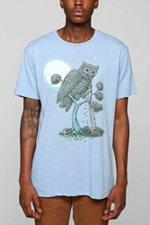 Fun Artists X Terry Fan The Owl Tree Tee Blue