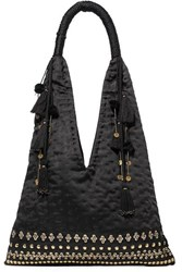Ulla Johnson Lalo Embellished Satin Tote Black