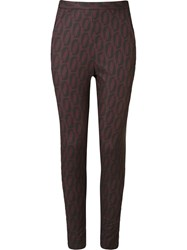 Andrea Marques High Waisted Cropped Trousers Black