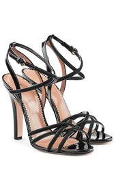 Red Valentino R.E.D. Patent Leather Sandals With Suede