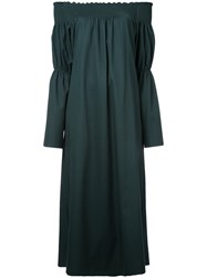 H Beauty And Youth Off Shoulder Jumpsuit Green