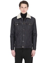 Numero 00 Faux Shearling Lined Cotton Denim Jacket