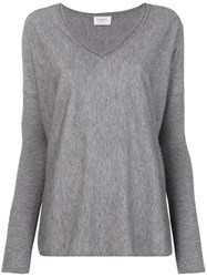 Snobby Sheep V Neck Jumper Grey