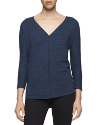 Calvin Klein Jeans Knit Long Sleeve Top Navy Armad