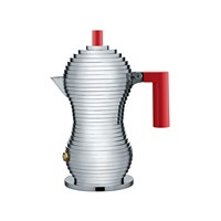 Alessi Pulcina Espresso Coffee Maker Red Small