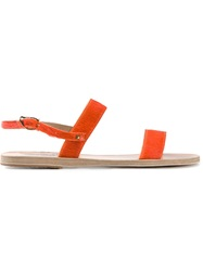 Ancient Greek Sandals 'Clio' Flat Sandals Yellow And Orange