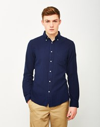 Gant Rugger Indigo Oxford Shirt Navy Blue