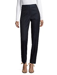 T Tahari Mariana Embroidered Pants Navy Black