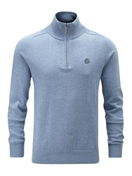 Henri Lloyd Men's Moray Regular Half Zip Knit Jumper Blue