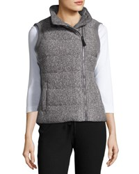 Marc New York Asymmetric Zip Puffer Vest Overcst Ht