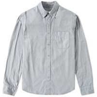 Save Khaki Button Down Oxford Shirt Blue