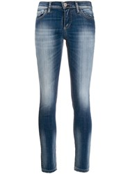 Frankie Morello Low Rise Skinny Jeans Blue