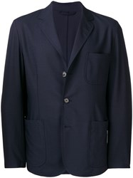 Aspesi Patch Pocket Blazer Blue