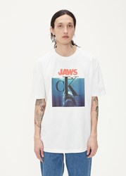 Calvin Klein 205W39nyc 'S Jaws T Shirt In Optic White Size Small Cotton Spandex