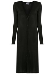 Mara Mac Long Knit Cardigan Black