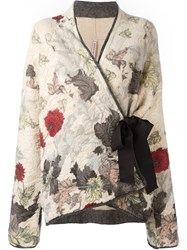Antonio Marras Wrapped Kimono Style Cardigan Nude Neutrals