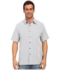 Royal Robbins Desert Pucker Plaid Short Sleeve Shirt Light Pewter Men's Short Sleeve Button Up Silver