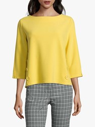 Betty Barclay Button Trim Top Super Yellow