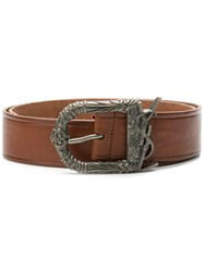 Saint Laurent Monogram Celtic Belt Brown