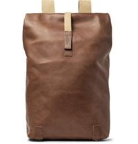 Brooks England Pickwick Large Leather Backpack Light Brown