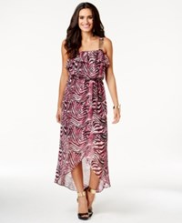 Thalia Sodi Printed Chain Strap Maxi Dress Only At Macy's Pink Combo