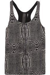 Norma Kamali Printed Stretch Jersey Tank Anthracite