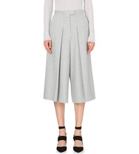 Whistles Renee Wide Leg Cropped Trousers Grey