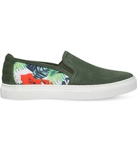 Kg By Kurt Geiger Carrey Suede Skate Shoes Green