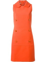 Michael Kors Buttoned A Line Dress Yellow And Orange