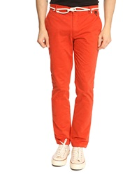 Eleven Paris Charlie Red Chinos With Cord Belt
