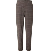 Nanamica Club Gingham Wool Blend Hopsack Suit Trousers Brown