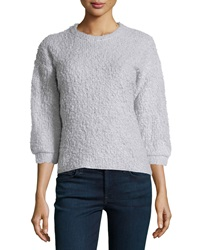 Chelsea And Theodore 3 4 Sleeve High Low Sweater Titanium O