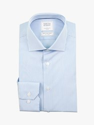 Smyth And Gibson Bengal Stripe Contemporary Fit Shirt Blue