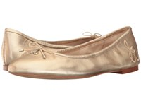 Sam Edelman Felicia Molten Gold Soft Metallic Sheep Leather Women's Flat Shoes