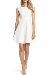 French Connection Women's Whisper Light Fit And Flare Dress Summer White