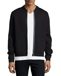 Atm Anthony Thomas Melillo Atm Bonded Cotton Blend Zip Up Jacket Black