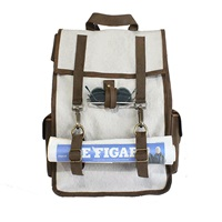 Kjore Project Evolution Of Goods Leather Canvas Survey Evolution Backpack White