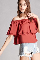 Forever 21 Lush Off The Shoulder Top