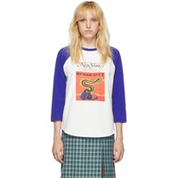 Marc Jacobs Off White And Blue New York Magazine Edition The Baseball Long Sleeve T Shirt