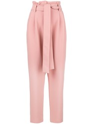 Roberto Collina Belted High Waisted Trousers Pink And Purple