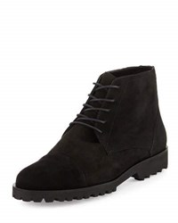 Amalfi By Rangoni Tempra Suede Lace Up Boot Black