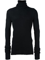 A New Cross Turtleneck Beanie Jumper Black