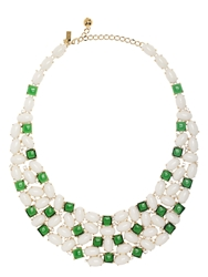 Kate Spade Madison Ave. Collection Magnolia Garden Gems Bib Necklace White Multi