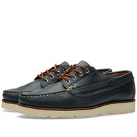 Oak Street Bootmakers Vibram Sole Trail Oxford Navy Chromexcel
